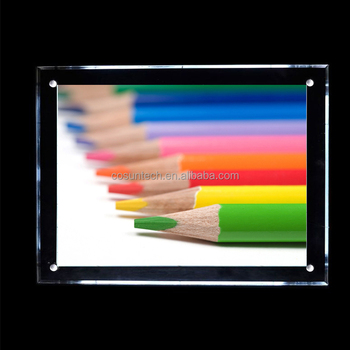 wallmounted flexible led bars wholesale a1 a2 a3 a4 acrylic crystal light box