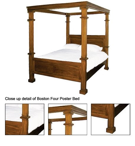 Boston King Size Four Poster Bed - Buy Four Poster Bed Product on ...