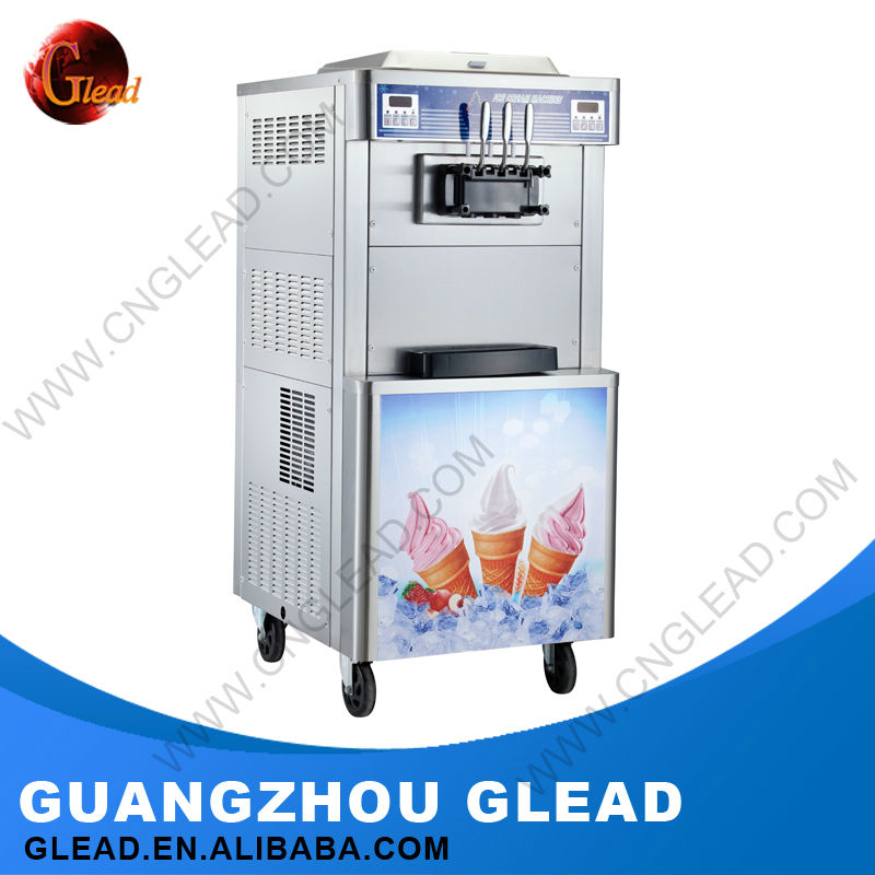 2016 hot sales 3 heads coin operated stoelting ice cream machine