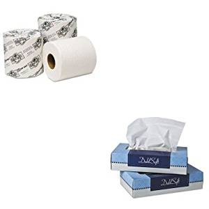 KITWAU06100WAU54000 - Value Kit - Wausau Paper EcoSoft Universal Bathroom Tissue (WAU54000) and Wausau Paper DublSoft Facial Tissue (WAU06100)