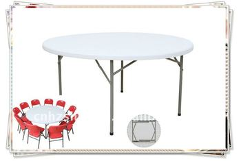 5ft Fold Down Antique Round Table