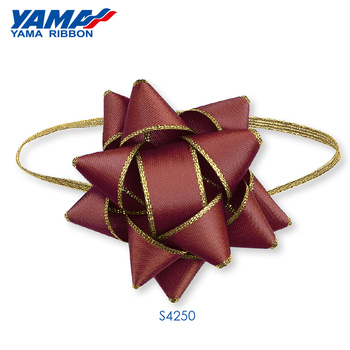 Yama factory custom polyester fabric pre-tied red mini bow tie gift box packaging