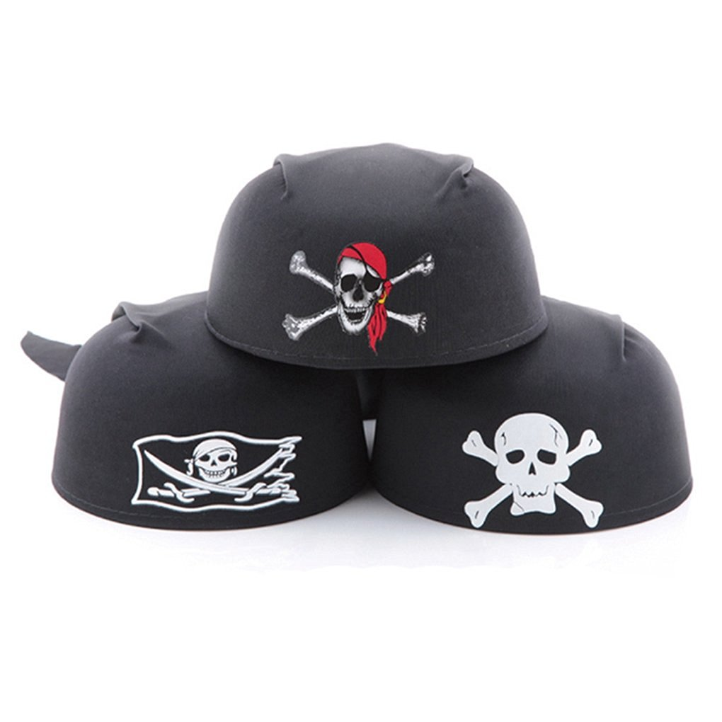 Hatop Themed Ship Captain Party Cos Toy for Halloween Dress Magic Pirate Hat