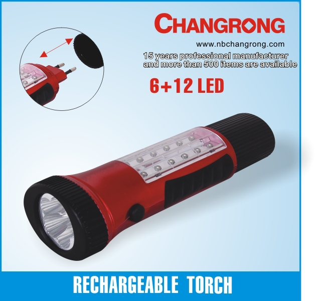 best plastic geepas rechargeable led flashlight with side light