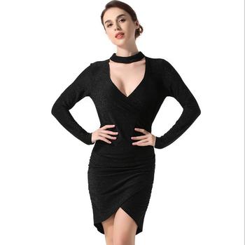 Hot sexy women black dress look