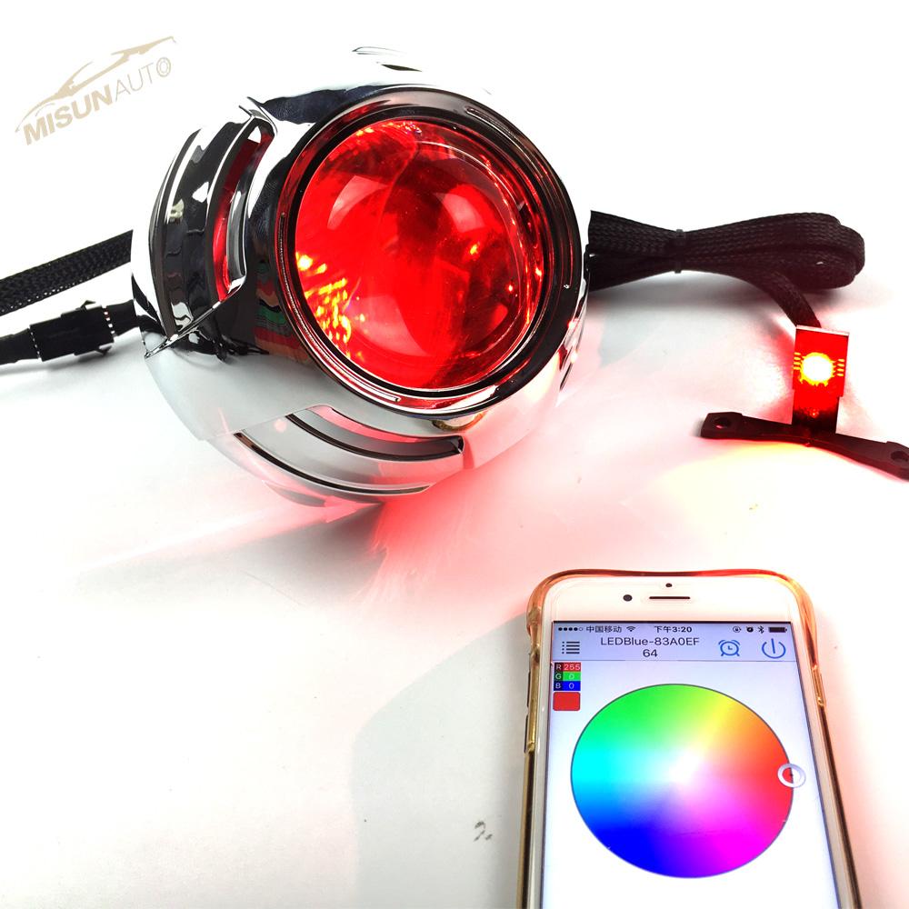 12v fire red devil eyes headlights LEDs module for projector headlights retrofit