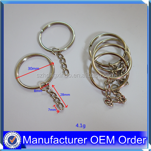 Hongxinbo bulk cheap promotional metal keychain parts keyring accessories parts for gifts