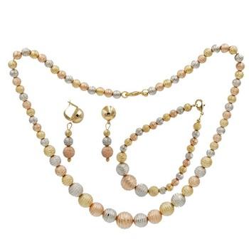 Mexico Fashion Jewellery Gold Plated Jewelry Set Handmade Beads