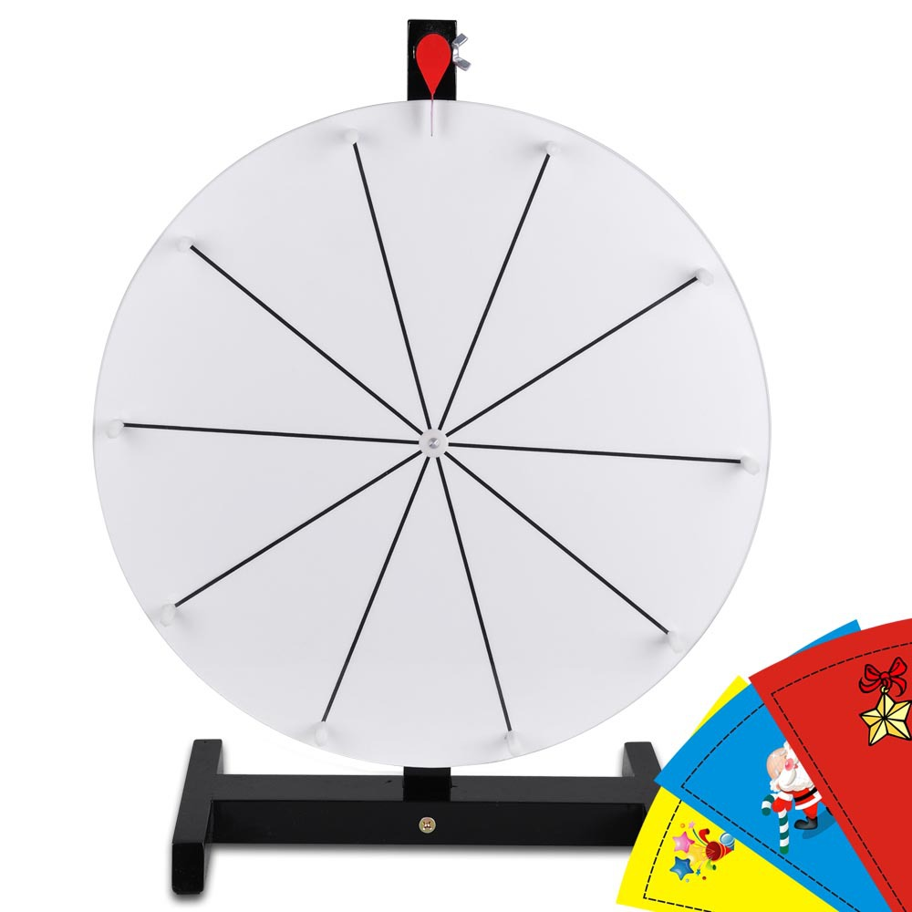 Editable 16 prize wheel dry erase fortune trade show for Wheel of fortune board template