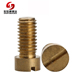 Copper Decorative Nails Flat Head Slotted Self Tapping Brass Screw