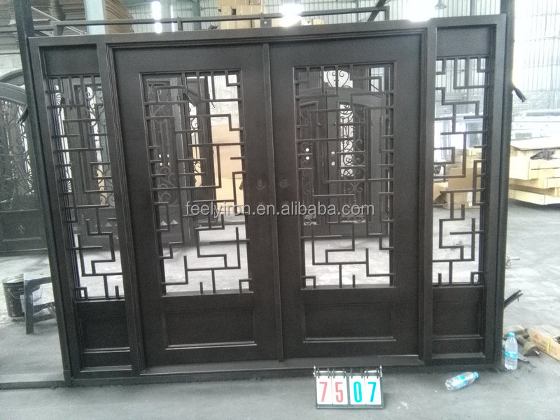 Grill doors single main door designs with Main entrance door grill