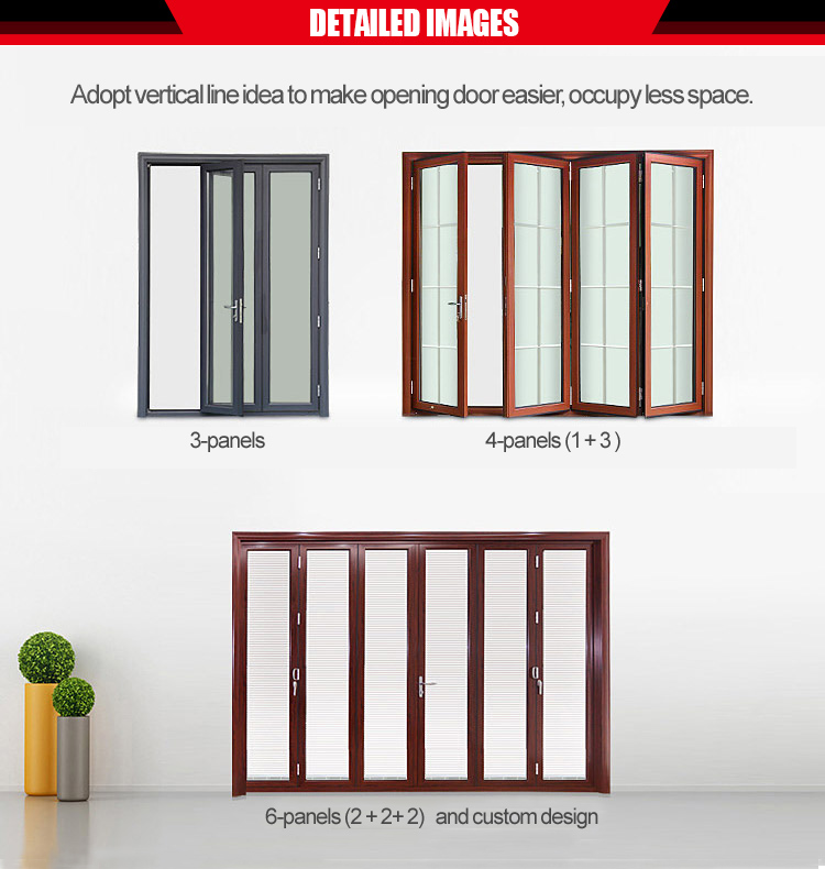 large size accordion glass patio folding doors cost