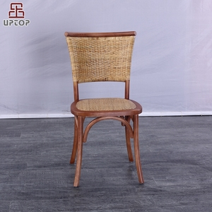 (SP-CT862) Modern high back stackable wooden rattan dining chair for dining room furniture