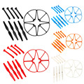 Syma X8C X8W X8G X8 Spare Parts Set with 4xLanding Gear 4xBlade Propeller 4xProtect Ring for