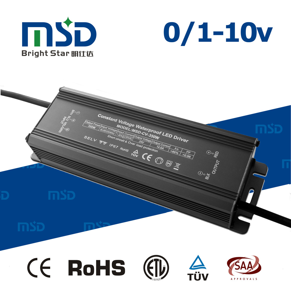High PFC low ripple aluminum housing waterproof led power supply 300W 24v ac to dc transformer