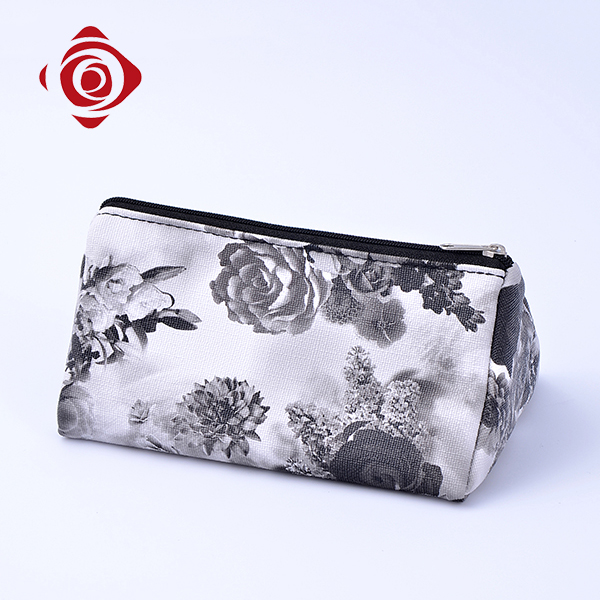 Wholesale women fashion classic canvas makeup bag