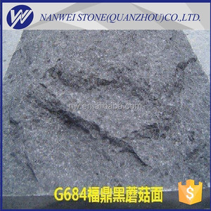 cut to size black Granite mushroom For Sale With Base Natural granite G684 FUDING BLACK edge chamfer and polished