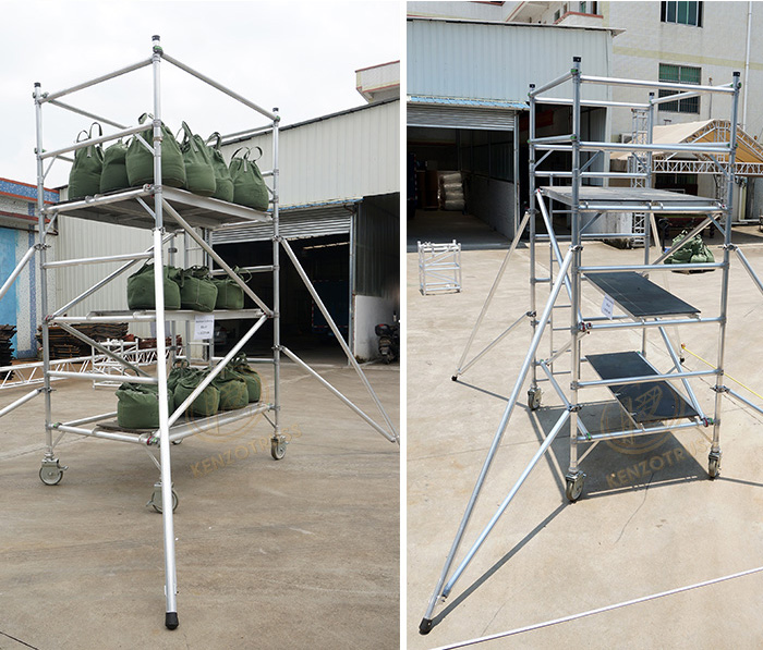 Customized aluminum mobile scaffolding prices