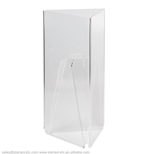 Menu Holder with Three Faces Triangle Sign Poster Acrylic Menu Stand