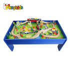 Hot sale model railway wooden train set for kids W04C040