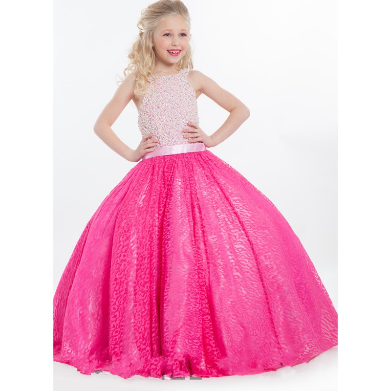 322781314 Cheap Fuchsia Flower Girl Dresses