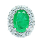 Emerald jewelry 925 sterling silver ring white gold with diamond rings siler ring bijouterie