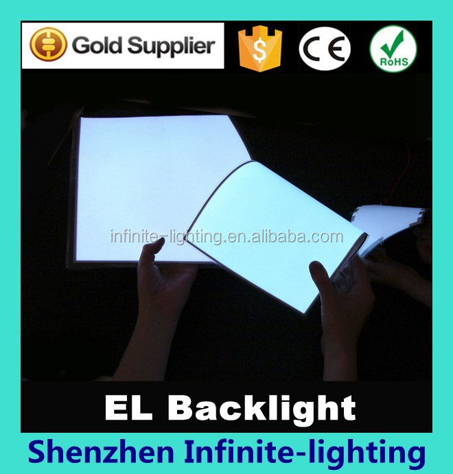 Hot sale Flexible el Paper Thin EL Product/EL Backlight/EL Panel High Hightness white color el backlight