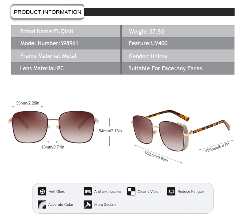 Fuqian New oversized sunglasses womens manufacturers for racing-7