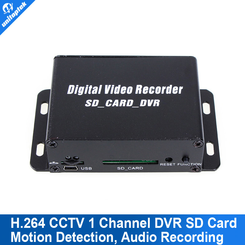 1CH Mini Mobile DVR For Bus Car Home Security Use Digital Video Recorder SD Card Motion detection Audio Recording