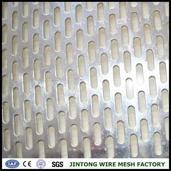 Slotted Aluminum Decorative Perforated Sheet Mesh Facade Screen ...