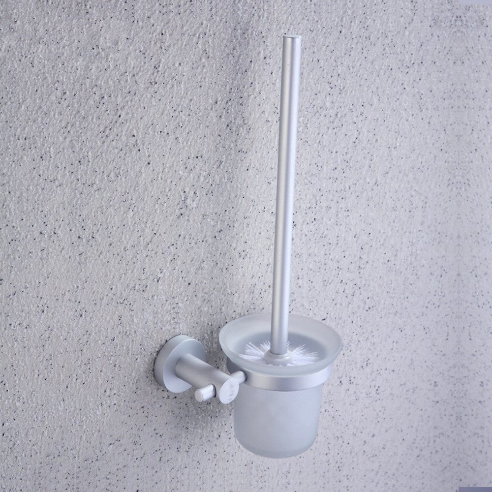 Space aluminum Cup holder toilet brush toilet brush Kit,bathroom cleaning brush WC toilet brush,toilet brush glass holder,toilet brush holder