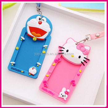 Hello kitty shaped business card cover pvc silicone passport case hello kitty shaped business card cover pvc silicone passport case bus id card holder with lanyard reheart Images