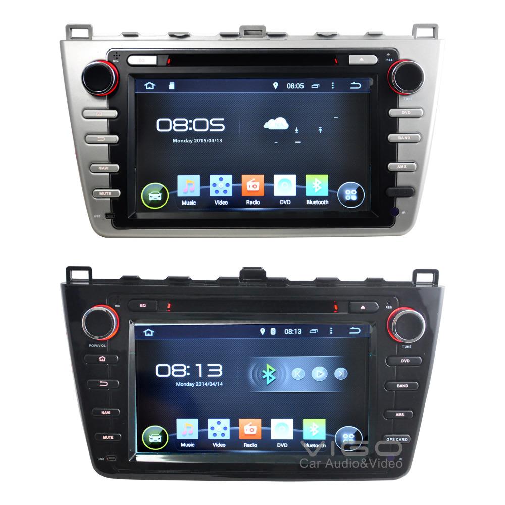 7 android 4 4 car dvd gps for mazda 6 navigation stereo. Black Bedroom Furniture Sets. Home Design Ideas