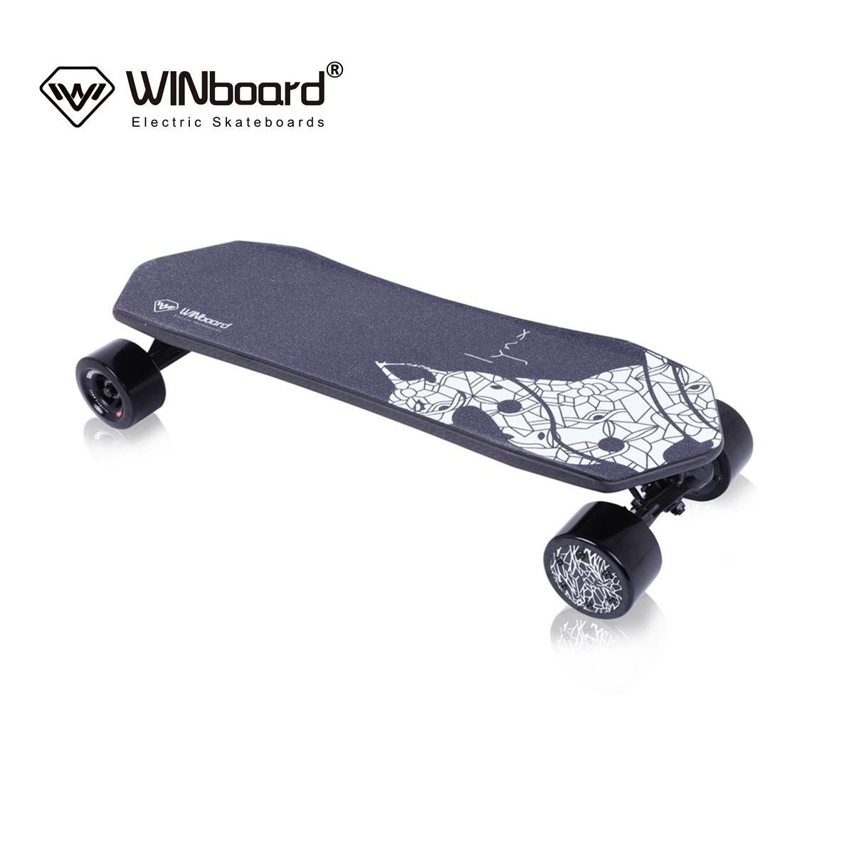 WINboard factory wholesale carbon fiber 85mm hub motor four wheels remote control electric skateboard