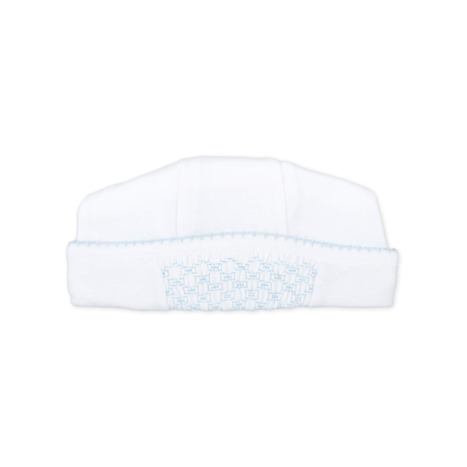 73c34e406dc54e Get Quotations · Magnolia Baby Baby Boy MB Essentials Smocked Hat White Blue