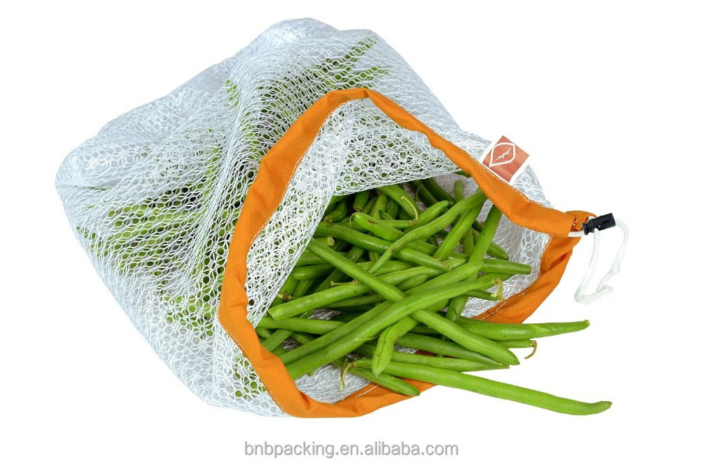 Free Sample China Products Nylon Vegetables And Fruits Mesh Bags With Logo Supplier