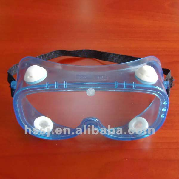 2016 hot selling EN 166 safety goggles PVC safety goggles with 4 indirect vents for sales