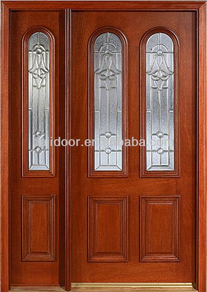 Lujo Cristal Inserta Principales Puertas De Madera De Teca Dj S9215mso