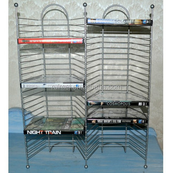 Double Tower Metal Stand DVD Storage Rack