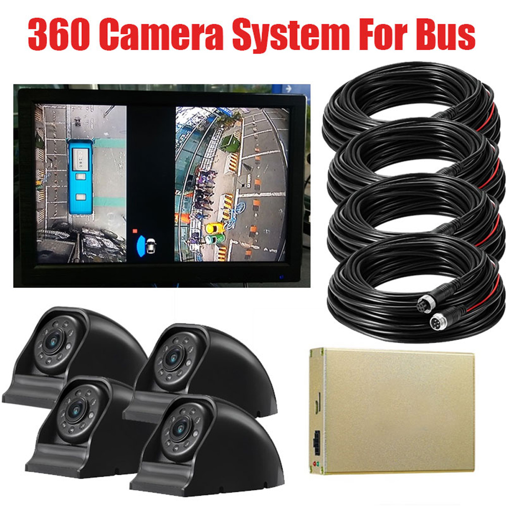 Good nightvision 2D 1080P DVR Record parking Monitor System with STK3228 chip