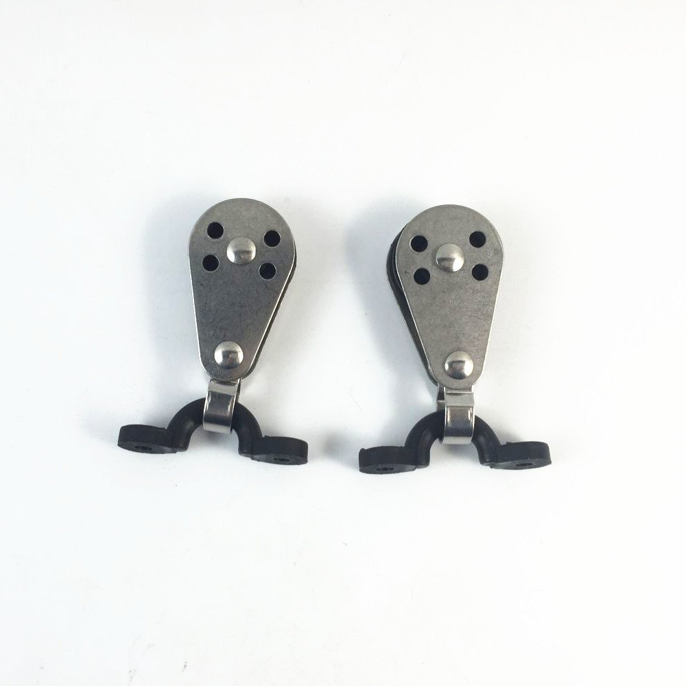 2 x 25mm Stainless Steel Kayak pulley Block and C-type buckle kit