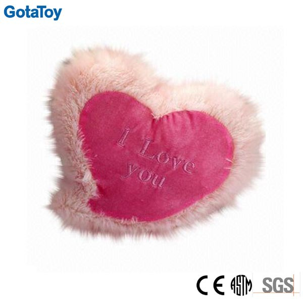 Hot sales custom plush love heart shaped pillow