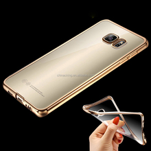 Royal Luxury Plating TPU Phone Case For Samsung Galaxy S8 S8 plus S7 S6 Edge S5 S6 A5 A5 2016 Soft Clear Silicon Cover