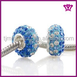 Wholesale crystal pave jewelry Floral Fits Pandora style Beads HZ-16