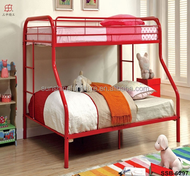 Hot Sale Cheap Twin Over Full Metal American Bunk Bed For Kids Adult