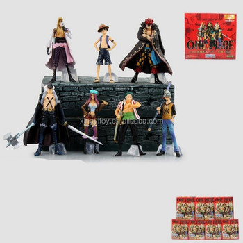 Japan anime figure One piece Luffy/Law /Zoro/Kid 7pcs set 9-12cm toy action figure