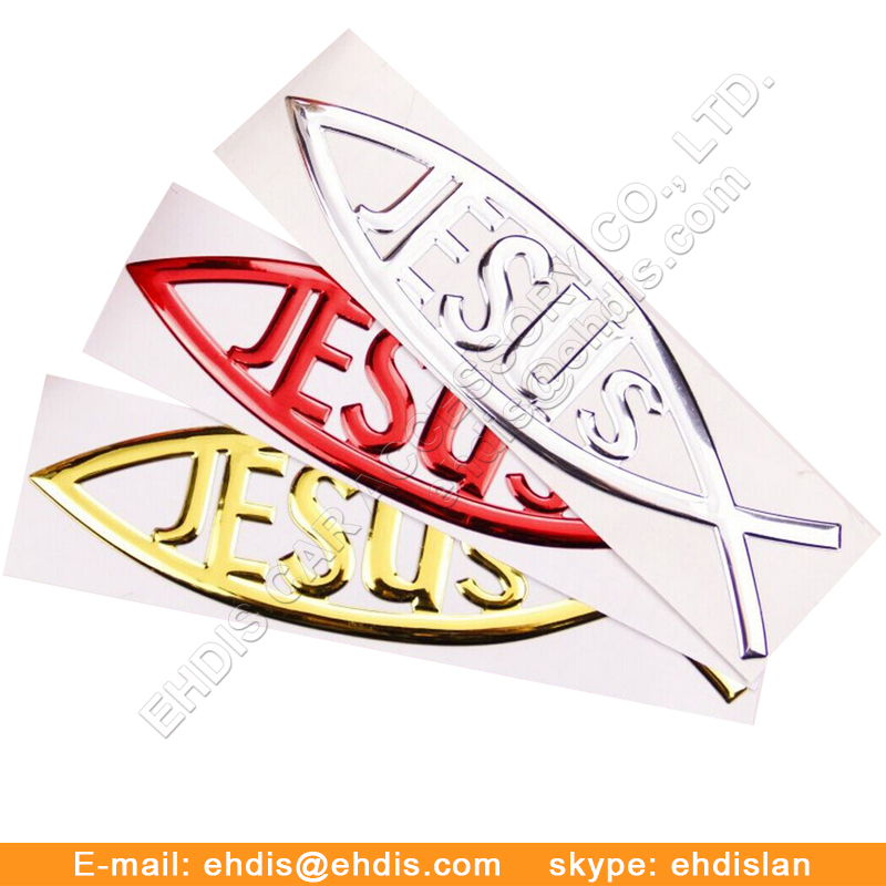 3d sticker chrome car personalized metal sticker