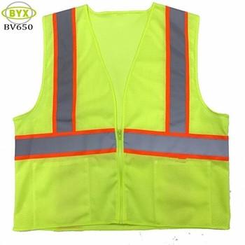 784b58074fb Chaleco reflectante corriendo seguridad visibilidad ropa de trabajo chaleco  amarillo de seguridad