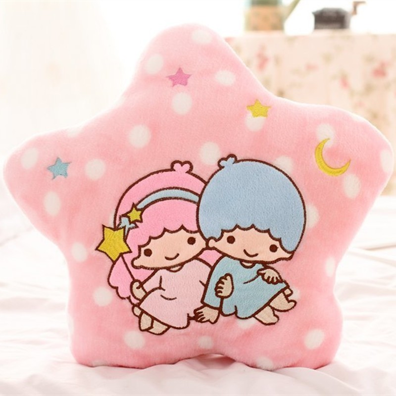small lovely couple star shaped with wave points dreamy colour pillow plush toy