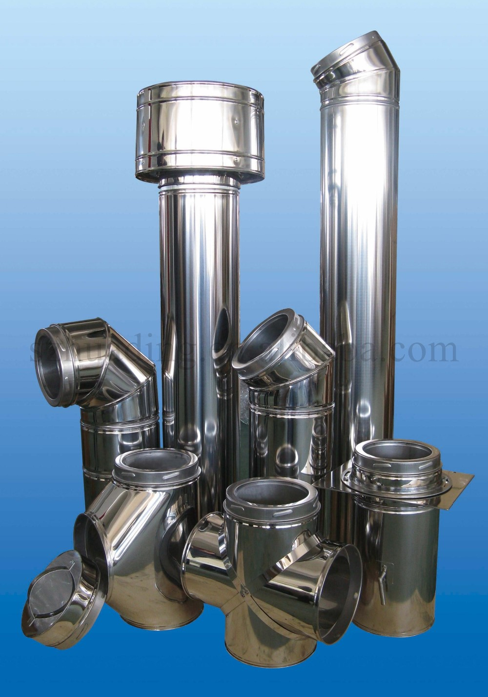 Ce Double Wall Stainless Steel 90 Degree Chimney Tube Tee